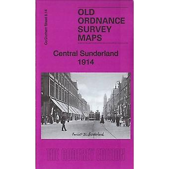 Central Sunderland 1914 - County Durham Sheet 8.14b by Alan Godfrey -