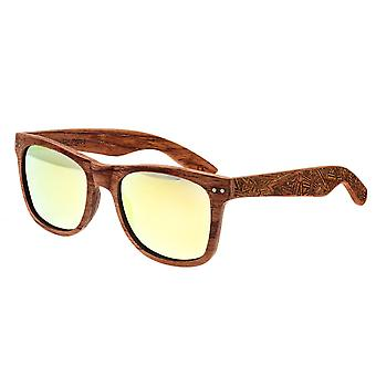 Earth Wood Cape Cod Polarized Sunglasses - Red Rosewood/Yellow