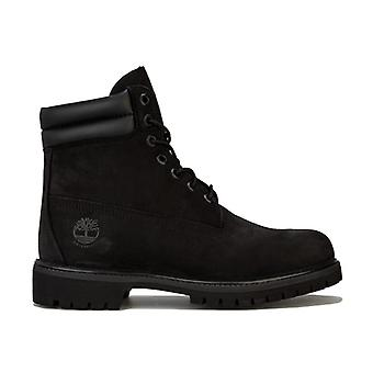 Men's Timberland 6 Inch Double Collar Boots in Black
