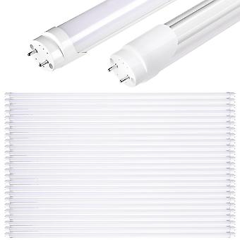 YesHom 25 Pack 4Ft T8 LED Tube 6500K Fluorescent Tube Retrofit Replacement, Milky Cover Dual-Ended, 18W T8 LED Bulbs