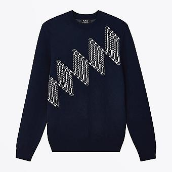 A.P.C.  - Jacquard Merino Wool Sweater - Navy
