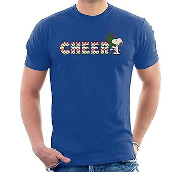 Erdnüsse Snoopy Weihnachtsbaum Cheer Men's T-Shirt
