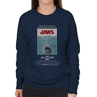 Jaws Movie Poster Women's Sweatshirt