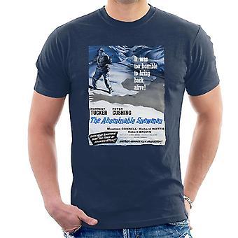Hamer horror films Abominable Snowman 1957 poster mannen ' s T-shirt