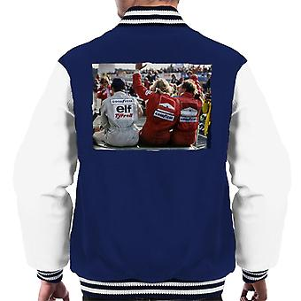 Motorsport Bilder Jody Scheckter James Hunt & Jochen Mass Men's Varsity Jacke