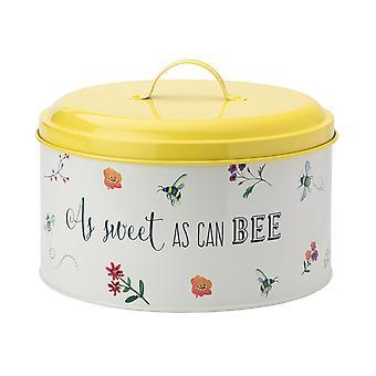 Boîte de gâteau heureux d'abeille anglaise de vaisselle