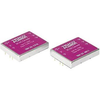 TracoPower TEN 25-1222 DC/DC converter (print) 12 V DC 12 V DC, -12 V DC 1.25 A 30 W No. of outputs: 2 x