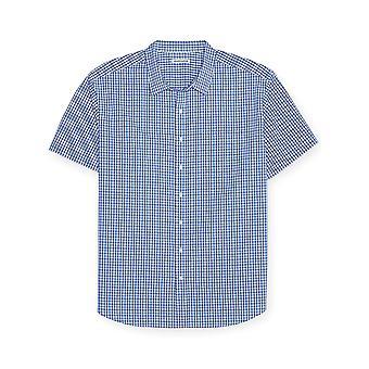 Essentials Men's Big & Tall Short-Sleeve Plaid Shirt fit by DXL, Blue,...