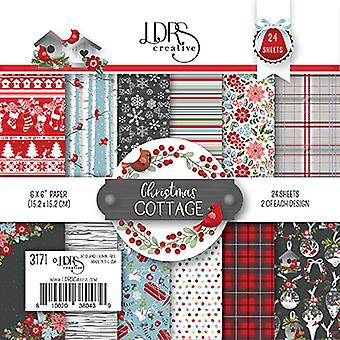 LDRS Creative Christmas Cottage 6x6 Inch Paper Pack