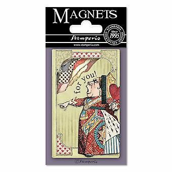 אליס מלכת הלבבות 8x5.5cm מגנט (EMAG011)