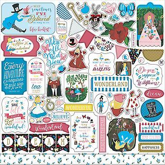 Echo Park Alice in Wonderland No. 2 12x12 Inch Element Sticker