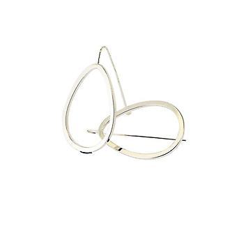 Silver Tear Drop Hoop Earrings