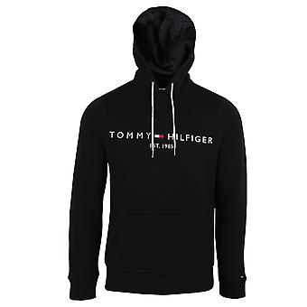 Tommy hilfiger men's jet black core tommy logo hoody