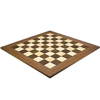 23.6 Inch Walnut and Maple Deluxe Chess Board