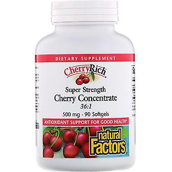 Natural Factors, CherryRich, Super Strength Cherry Concentrate, 500 mg, 90 Softg