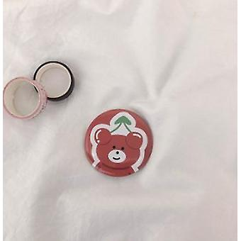 Mini Portable Double Sided Folding Heart Shaped Cherry Makeup Pocket Mirror
