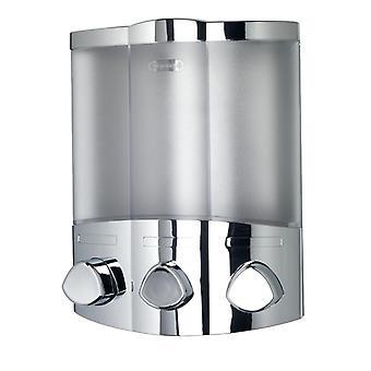 Croydex euro Chrome såpe dispenser trio