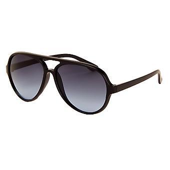 Sunglasses Unisex matt black with blue lens (AZ-150)