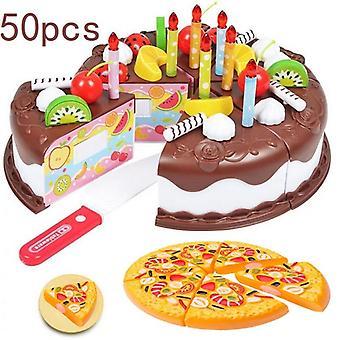 Diy Cake Kuchnia Plastikowe Jedzenie, Owoce, Pretend Play Baby Set Cięcia Edukacyjne