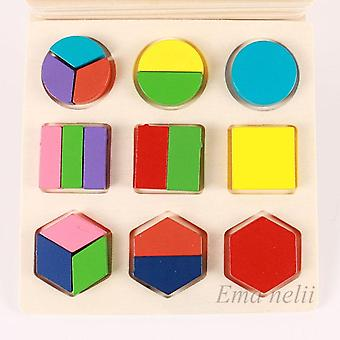 Sale Geometric Shape And Color Matching Wooden 3d Puzzles Baby Montessori Early Educational Learning Toy For Children S-l02