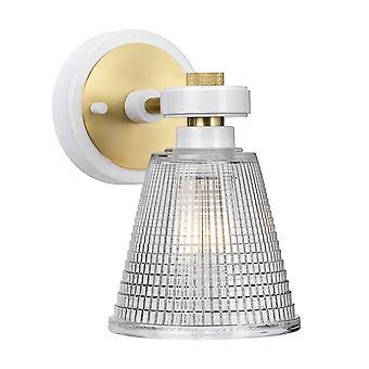 1 Lichtwandlicht Messing Glazen Tint IP44, G9