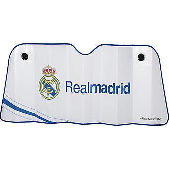 Real Madrid zonnescherm voorruit 145 x 80 cm wit