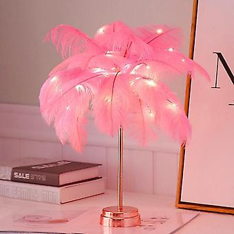 Usb Rechargeable Tree Shape Led Lights - Feather Table Lamp