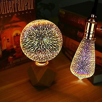 Colorful Fireworks Effect Led 3d Light Vintage Bulbs Table Lamps