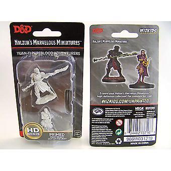 Dungeons & Dragons Nolzur's Marvelous Unpainted Miniatures - Yuan-Ti Purebloods Adventurers