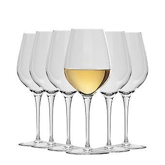 Bormioli Rocco Inalto Tre Sensi Medium Wine Glasses Set - 430ml - Pack of 6