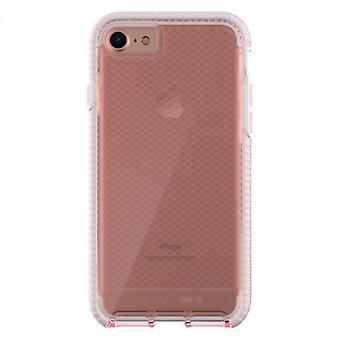 Tech21 Evo Check FlexShock Case for iPhone 8 Plus, iPhone 7 Plus - Light Rose/White