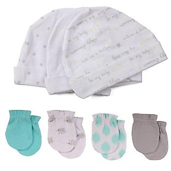 Unisex Cotton Hats Gloves Headwear Fitted Baby Accessories