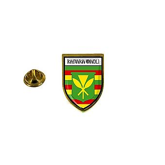 الصنوبر الصنوبر شارة الصنوبر دبوس أبوس;ق التذكارية مدينة علم البلاد شعار هاواي kanaka maoli
