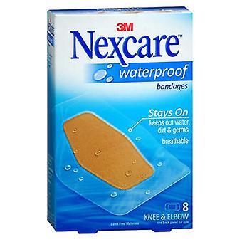 3M Nexcare الضمادات للماء واضحة الركبة والكوع، 8 لكل من