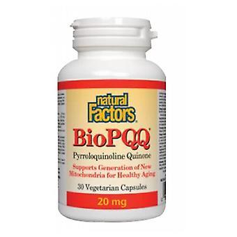 Luonnolliset tekijät BioPQQ, 20 mg, 30 Veg Caps