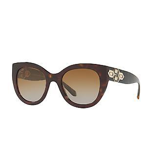 Bvlgari BV8214B 504/T5 Dark Havana/Polarised Brown Gradient Sunglasses