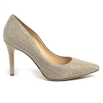 Décolleté L'arianna Platinum In Fabric With Medium Heel