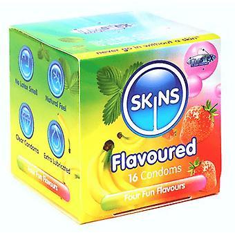 Skórki mieszane smak prezerwatywy kostka 16