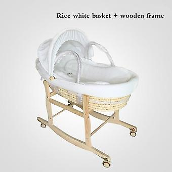 Newborn Baby Portable Basket Crib Car Sleeping Baby Bed 0-16month