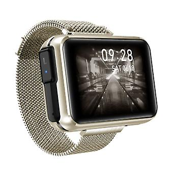 Lemfo T91 Smartwatch Wide Display with Wireless Earpieces - 1.4 Inch Screen - Smartband Fitness Tracker Sport Activity Watch iOS Android Gold