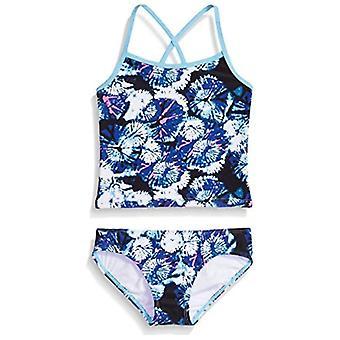 Kanu Surf Girls' Big Alexa Beach Sport 2-Pc Banded Tankini Swimsuit, Okana Bl...