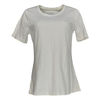 Isaac Mizrahi Live! Frauen's Top Essentials Scoop Neck Tee weiß A379429