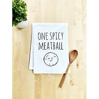 One Spicy Meatball Dish Towel