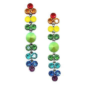 Brincos de gota de arco-íris