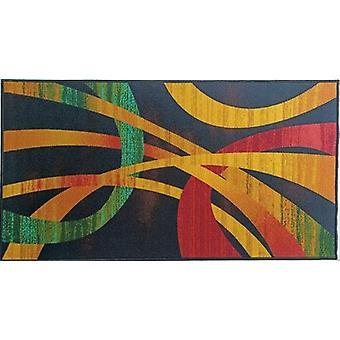 Modern Art Black Area Rug Anti-slip Kleine Tapijten / lopers
