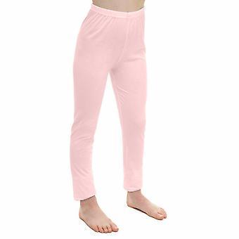 Girls Plain Soft Full Length Leggings Jegging Pants