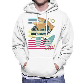 ソニック ザ ヘッジホッグ ランディング ストライプ メン&アポ;s フード付きスウェットシャツ