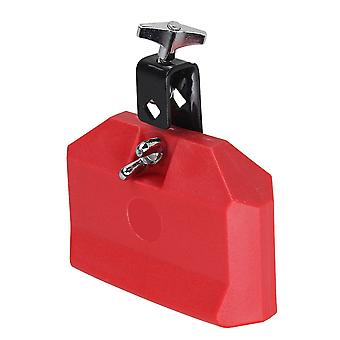 High Pitched Durable Red Plastic Percussion Instruments Block Integral Clamp