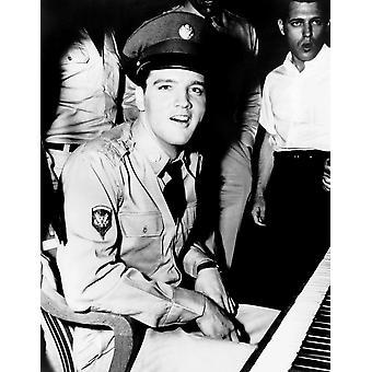 GI Blues Elvis Presley On-Set Between Takes 1960 Photo Print