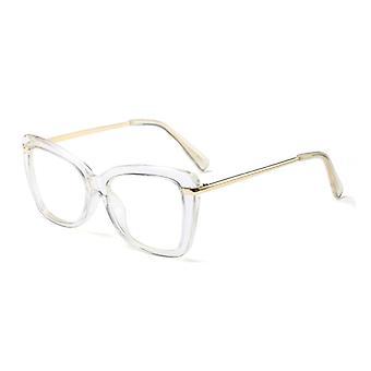 Women Metal Legs Designer Optical Eyeglasses Prescription Acetate Rim